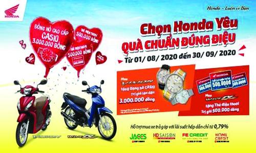 """""""Chọn Honda yêu, Quà chuẩn đúng điệu"""" - Honda Việt Nam dành ưu đãi hấp dẫn mùa tựu trường cho khách hàng mua xe Wave Alpha 110cc & VISION"""